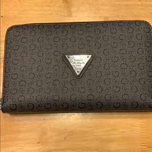 Black oversized wallet